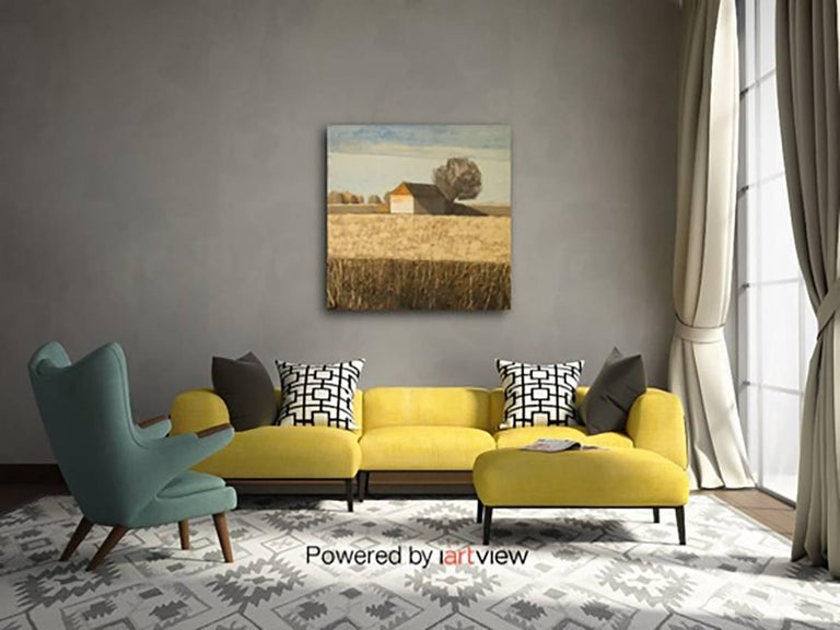 House in Pale Field (Cotswolds) Original Brilliant Art Reviews Collectable For Sale 4