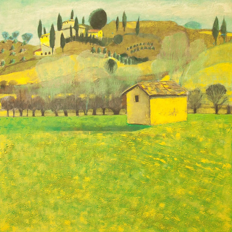 House in Tuscany Original Impressionist style Highly collectable Good Art Review For Sale 4