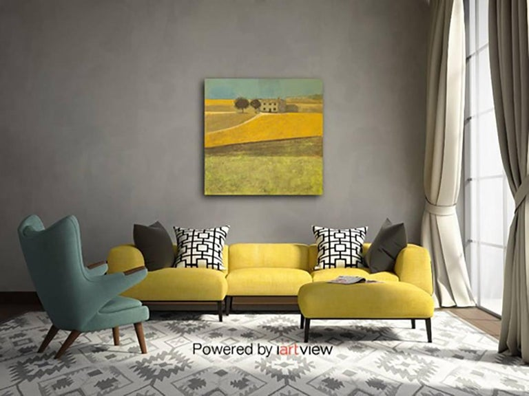 Yellow Field, Spain, Original, Impressionist Style, Brilliant Art ReviewsSigned  For Sale 4