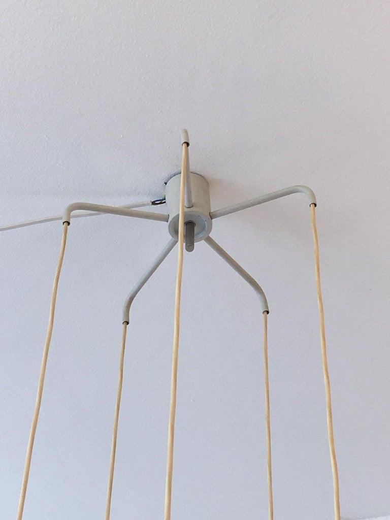 Danish Lyfa Aluminum Pendant Lamp Denmark, circa 1960s For Sale