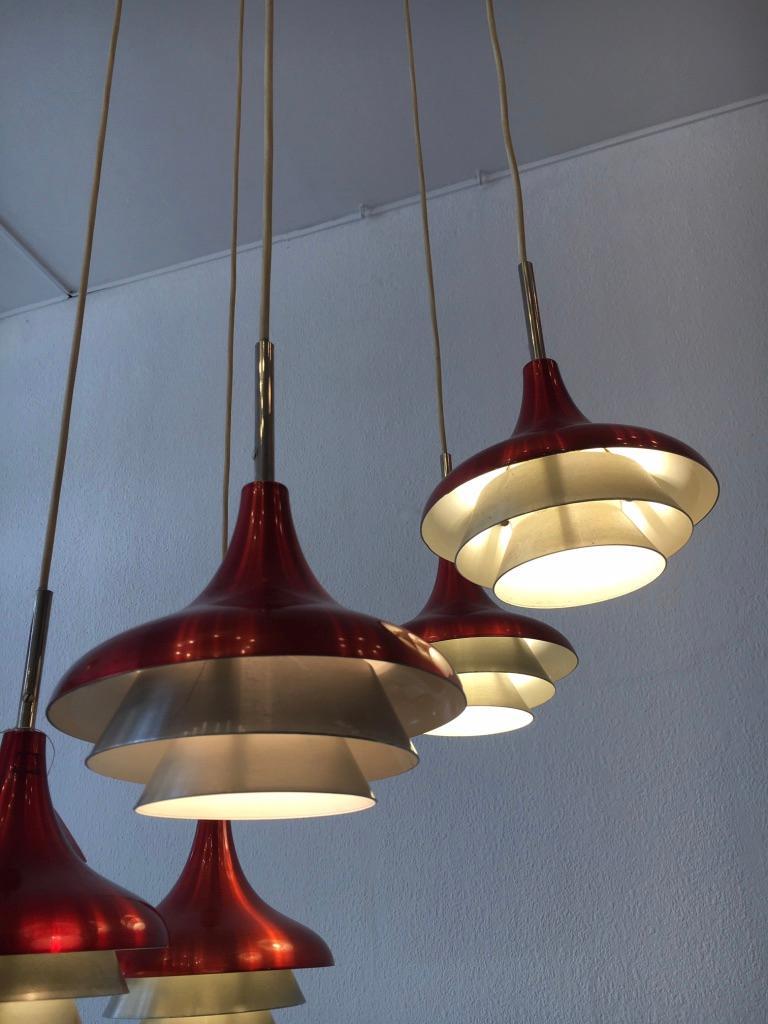 Lyfa Aluminum Pendant Lamp Denmark, circa 1960s In Excellent Condition For Sale In Geneva, CH