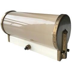 Art Deco Lyfa Cylinder Opaline Glass Wall Sconces