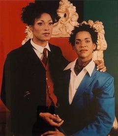 Sisterhood (Portrait of Sister and Brother),  cibachrome photo print