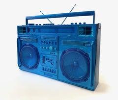 Blue Boombox Sculpture