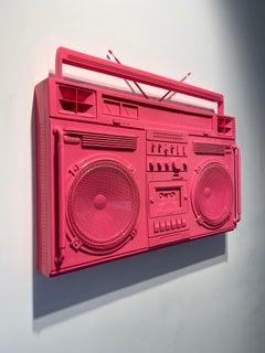 Bubblegum Pink Boombox Sculpture