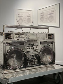Stainless Steel Boombox Sculpture