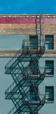 Scaling the Heights / original painting architectural realsim