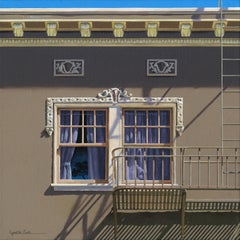 Serenity / framed contemporary photorealist architecture painting