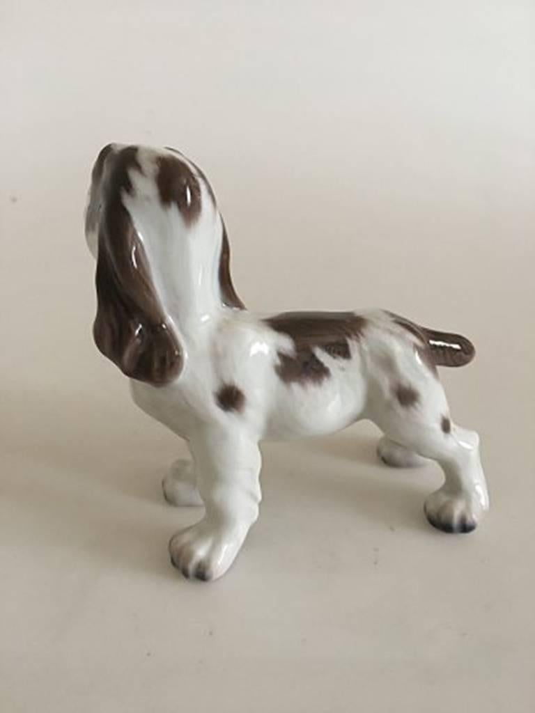Lyngby porcelain figurine cocker spaniel dog #72. Measures 12 cm high and 13 cm long. In perfect condition.