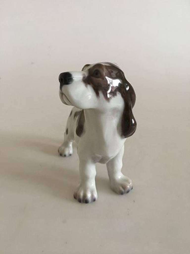 Art Nouveau Lyngby Porcelain Figurine Cocker Spaniel Dog #72 For Sale