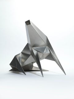 Beast Alerted - 20th Century, Stainless steel, Sculpture by Lynn Chadwick