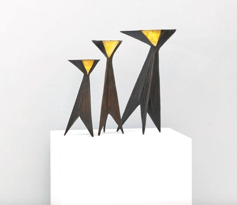 Candle Holders - Contemporary Sculpture by Lynn Chadwick