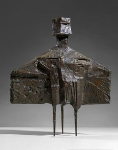 Maquette for Stranger - 20th Century, Bronze Sculpture by Lynn Chadwick