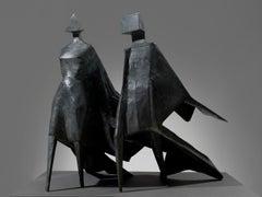 Maquette III Jubilee III - 20th Century, Bronze, Sculpture by Lynn Chadwick