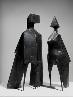 Maquette V Two Winged Figures - 20th Century, Bronze, Sculpture by Lynn Chadwick