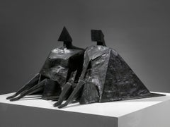 Sitting Couple II - 20th Century, Bronze, Sculpture by Lynn Chadwick