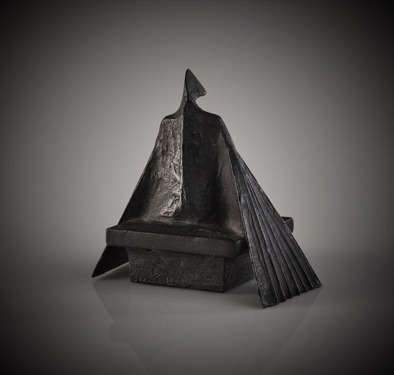 'Sitting Woman II' Original Bronze Figurative Sculpture by Lynn Chadwick For Sale 1