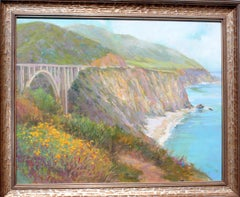 Bixby Bridge,  24x30 oil on canvas. Artist Lynn Gertenbach