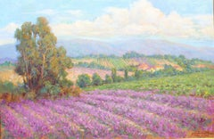 Lavender in Provence, 24x36 in. , oil on canvas. Framed size 44x33 in.