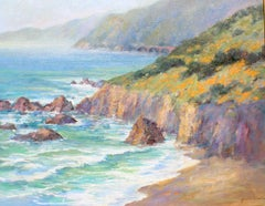 Poppies in Big Sur, 24x30 oil on canvas