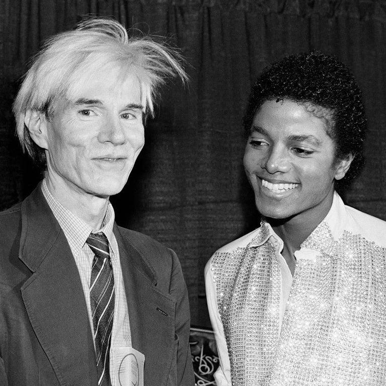Lynn Goldsmith Color Photograph - Andy Warhol and Michael Jackson 1981