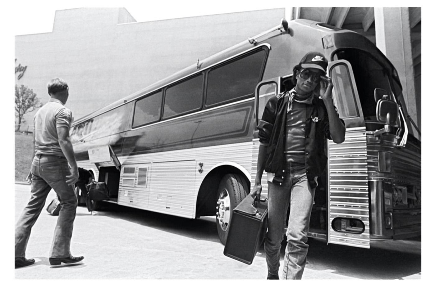 Michael Jackson in 1981 on the 'Triumph' tour