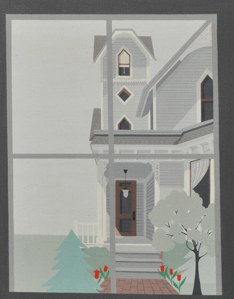 Hand-Painted Lynn Kraus Modern Oil on Canvas For Sale