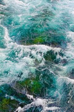 Tumult in Blue & Green - Framed