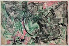 Untitled (Green & Pink), Lynne Mapp Drexler Mid-Century Abstract Expressionist