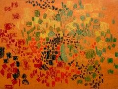 Untitled (Orange), Lynne Mapp Drexler Mid-Century Abstract Expressionist Paper
