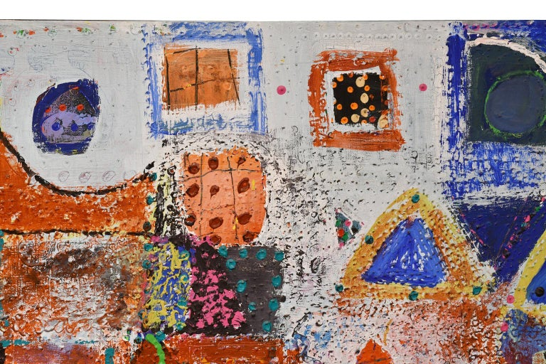 Large Abstract Painting by Lynne Golob Gelfman, Acrylic on Canvas, Dated 1986 For Sale 4