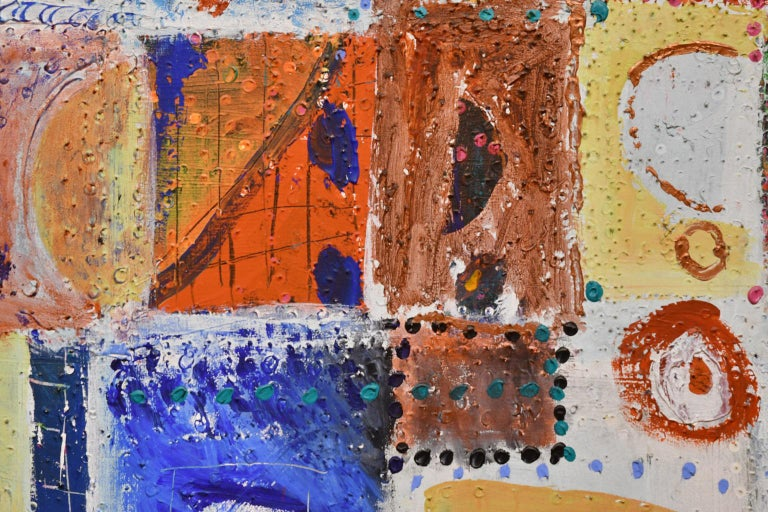 Other Large Abstract Painting by Lynne Golob Gelfman, Acrylic on Canvas, Dated 1986 For Sale