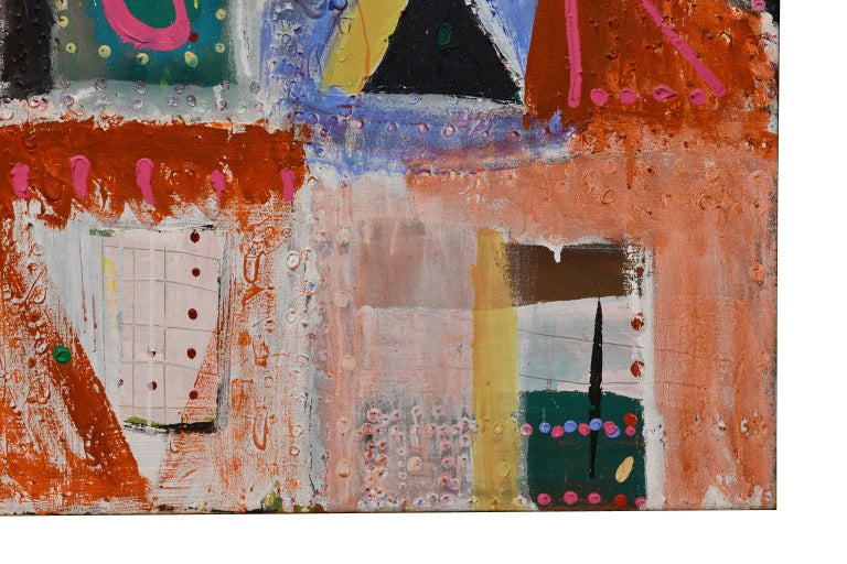 20th Century Large Abstract Painting by Lynne Golob Gelfman, Acrylic on Canvas, Dated 1986 For Sale