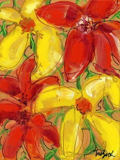 Abstract Floral Four, Painting, Acrylic on Canvas