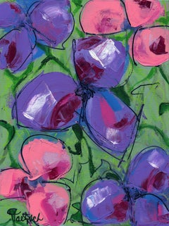 Abstract Floral Three, Painting, Acrylic on Canvas