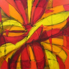 The Knife Cuts, The Petal Falls, Painting, Acrylic on Canvas
