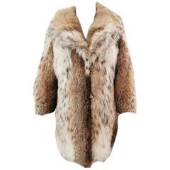 Lynx bob cat fur coat size 6