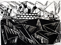 Armada I, from: Twelve Woodcuts by Lyonel Feininger