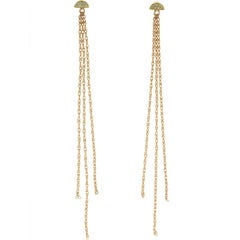 Lyra 18 Karat Yellow Gold Mint Sapphire Earrings
