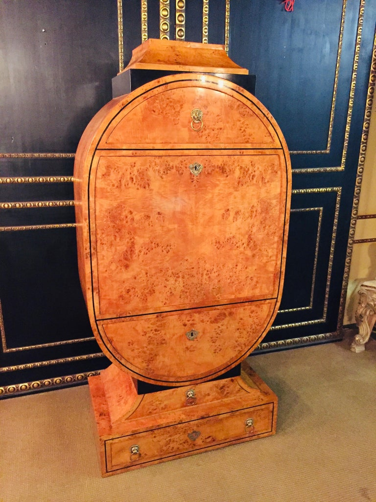 Princely Lyra secretary Viennese Biedermeier style 1815