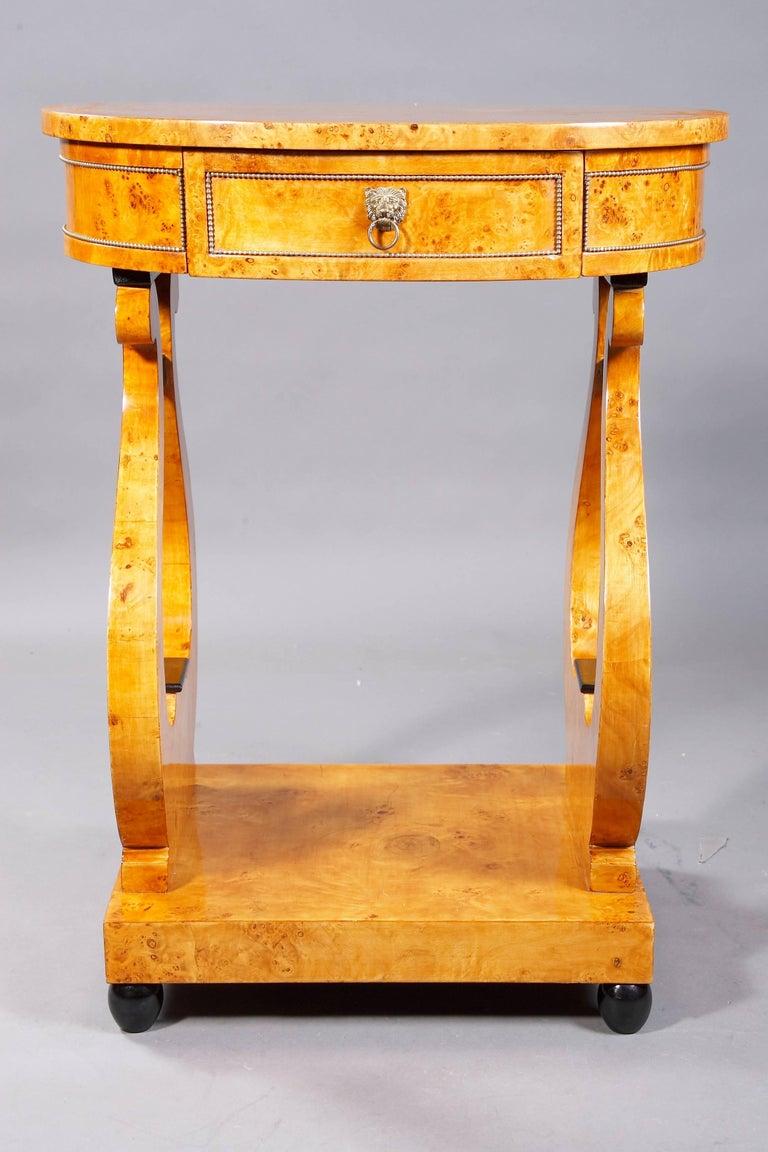 Lyra Sewing Table in Biedermeier Style In Good Condition For Sale In Berlin, DE