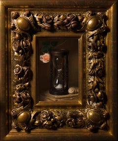 Memento Mori - Oil Still-Life Painting Colours Black Brown Beige Grey White Pink