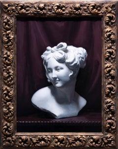 Venus Cast - Figurative Painting Colors Black Purple White Yellow Grey