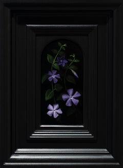 Vinca -  Nostalgia - Figurative Painting Colors Black Purple