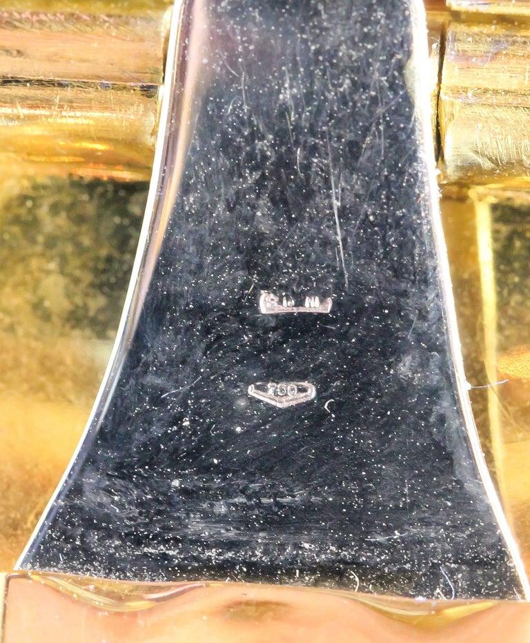 M. Buccellati Diamond Gold Wide Cuff Bracelet For Sale 5