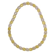 M. Buccellati Two-Tone Reversible Polished and Textured Gold Necklace