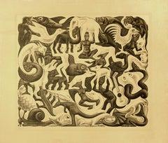 Mosaic II - Lithograph by M.C. Escher - 1957