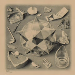 Order and Chaos - Dutch Artist Graphic Litho Metamorphoses Perspective