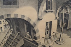 Up and Down - Dutch Artist Litho Metamorphoses Perspective Architecture