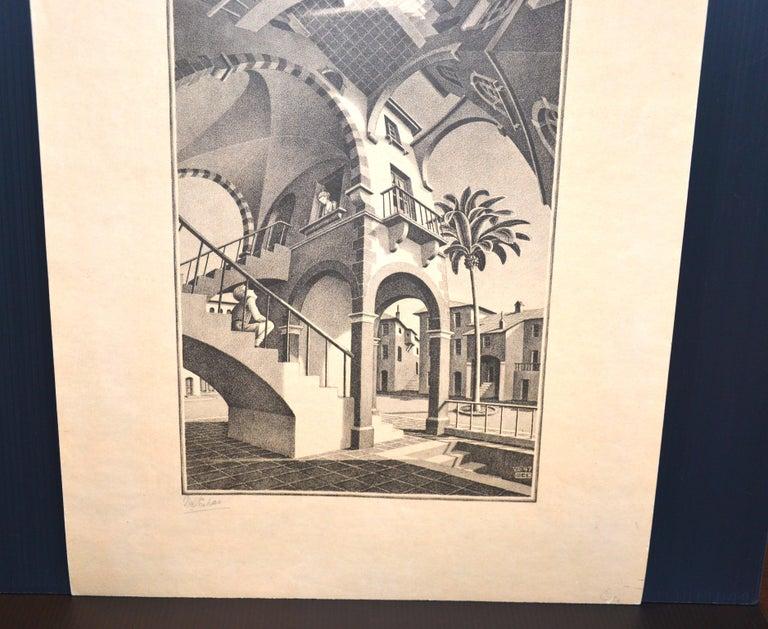 Up And Down - Original Lithograph by M.C. Escher - 1974 - Print by M.C. (Maurits Cornelius) Escher